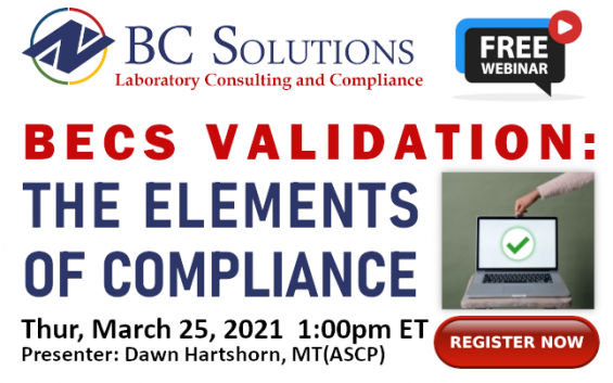 Register NOW for this free webinar! (2021.03.25 BECS Elements)