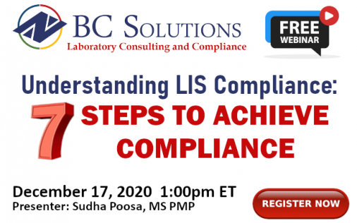 Register Now for our 7 Steps to Compliance Webinar