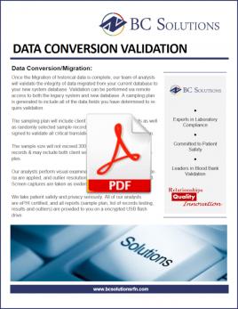 Data Conversion Validation Flyer